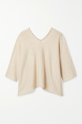 LAUREN MANOOGIAN Horizontal Huipil Pima Cotton And Silk-blend Sweater - Ecru