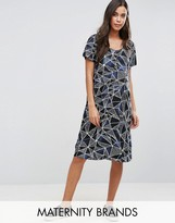 Mama Licious Mama.licious Mamalicious Graphic Print Shift Dress