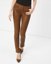 White House Black Market Leather-Front Slim Jeans