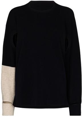 Issey Miyake Cut-Out Panelled Sweatshirt