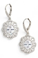 Nina Women's Vintage Drop Crystal Earrings