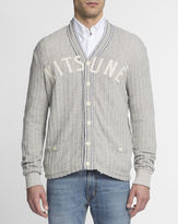 MAISON KITSUNÉ Grey Button-Up Baseball Sweatshirt