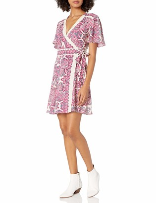 BCBGMax Azria Womens Jacklyn Woven Wrap Dress