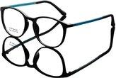 De Ding DEDING Retro Round Clear Lens Eyeglasses ( , clear )