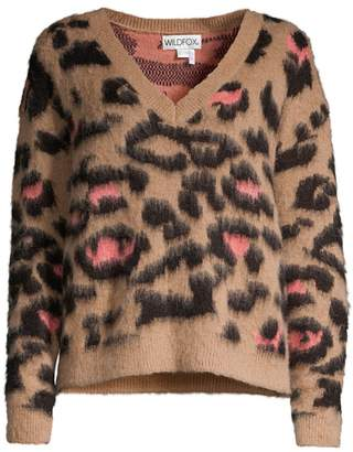 Wildfox Couture Preppy Kitty Wool & Mohair-Blend Sweater