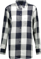 Equipment Margaux checked cotton-voile shirt