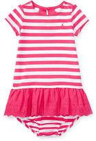 Ralph Lauren Girl Striped Eyelet Dress & Bloomer