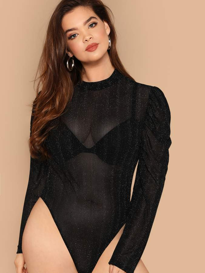 52db488be80a Sheer Or Mesh Bodysuit - ShopStyle