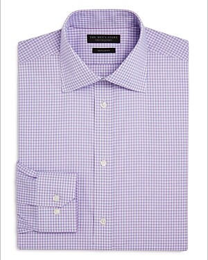 The Men's Store at Bloomingdale's Double Check Regular Fit Dress Shirt