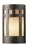 "575 Denim Blandinsville Prairie Window 1-Light Flush Mount Wrought Studio Bulb Type: LED, Size: 9.5"" H x W x 4.5"" D"