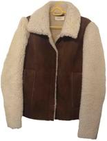 BA&SH Bash Fall Winter 2018 Beige Shearling Coats