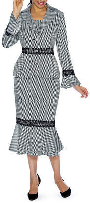 GIOVANNA SIGNATURE Giovanna Signature Polka Dot Skirt Suit