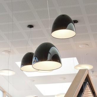 Artemide Nur 1 - Light Single Dome Pendant Finish: Black