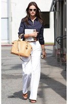 J Brand Ella Flare Trouser in Awaken as seen on Alessandra Ambrosio