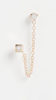 Zoë Chicco 14k Gold Paris Double Chain Stud Earrings