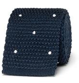Paul Smith 6cm Polka-Dot Knitted Silk Tie