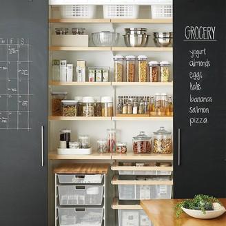 Container Store Elfa Decor 4' Birch & White Reach-In Pantry
