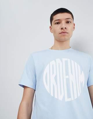 Dr. Denim Patrick Logo T-Shirt Blue Sphere-Beige