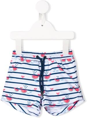 Trunks Sunuva Kids watermelon whale print swim shorts