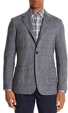 Canali Plaid Slim Fit Jersey Jacket