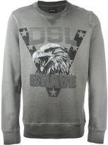Diesel eagle print sweatshirt