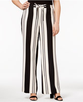 INC International Concepts Plus Size Striped Palazzo Pants, Created for Macy's