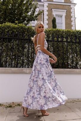 Kands London Floral Print Bandage Detail Dress