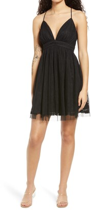 Lulus Night of Love Mesh Lace Sleeveless Minidress