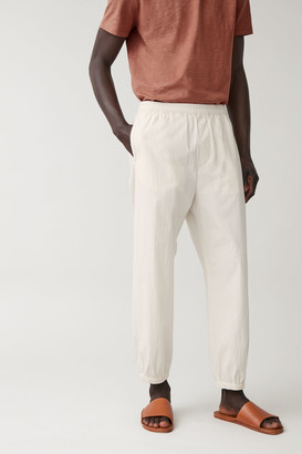Cos Textured Trousers With Drawstring