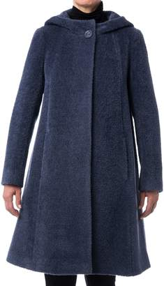 Cinzia Rocca Icons Icons Hooded Wool Blend Coat