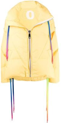KHRISJOY Rainbow Drawstrings Puffer Jacket