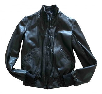Gas Jeans Black Leather Leather jackets