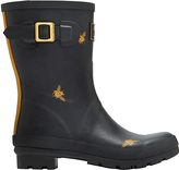 Joules Mid Molly Bee Wellington Boots, Black