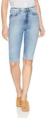 Hudson Jeans Women's Zoeey HIGH Rise Straight Cut Off Boyfriend Jean Short