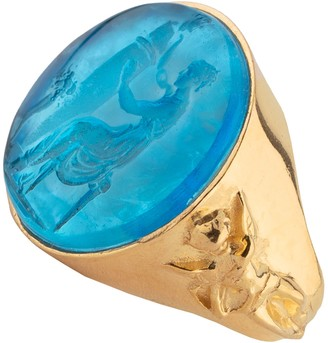 Tagliamonte 18K Gold Plated Sterling Venetian Cameo Goddess Ring