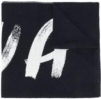Nina Ricci Logo-Print Oversized Scarf
