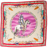 Versace Horse Square Scarf