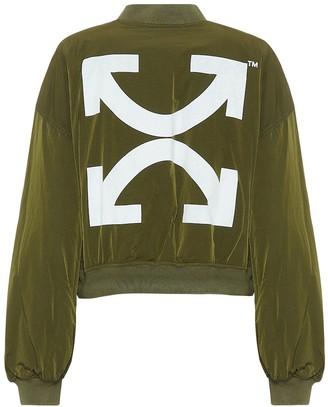 Off-White Off White Nylon cropped bomber jacket