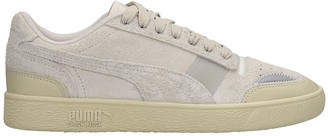Puma Ralph Sampson Sneakers In White Suede And Leather