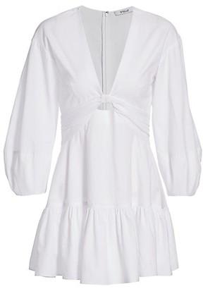 Derek Lam 10 Crosby Talia Keyhole Mini Dress