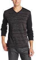 Calvin Klein Jeans Men's Long Sleeve Space Dye Rib
