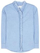 Etoile Isabel Marant Isabel Marant, Étoile Awendy ruffled chambray shirt