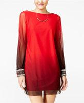 Amy Byer Juniors' Embellished V-Back Shift Dress