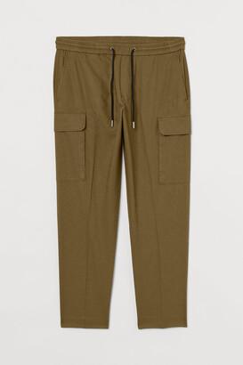 H&M Linen-blend Cargo Pants