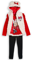 Nannette 3-Piece Minnie Mouse Vest, Top & Pants Set, Little Girls (2-6X)