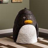 Zoomie Kids Penguin Wicker Laundry Hamper