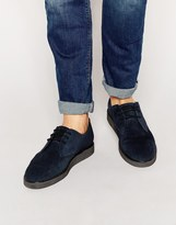Fred Perry Newburgh Suede Creeper Shoes - Blue