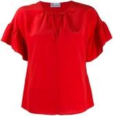 RED Valentino ruffled-sleeve short blouse