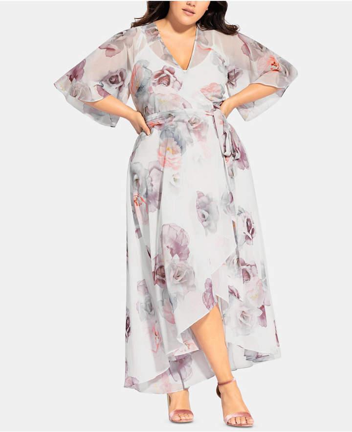 Plus Size Chiffon Maxi Dress - ShopStyle