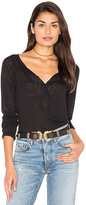 Splendid Slub Buttoned Long Sleeve Top